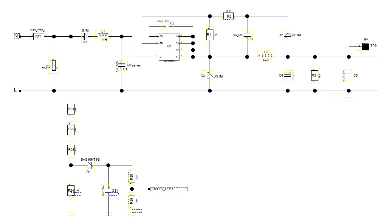 Lnk306 Emi Issue Power Integrations Ac Dc Converters Filter Circuits Inductor Lc Clc Or Pi Schematic 8738 Kb