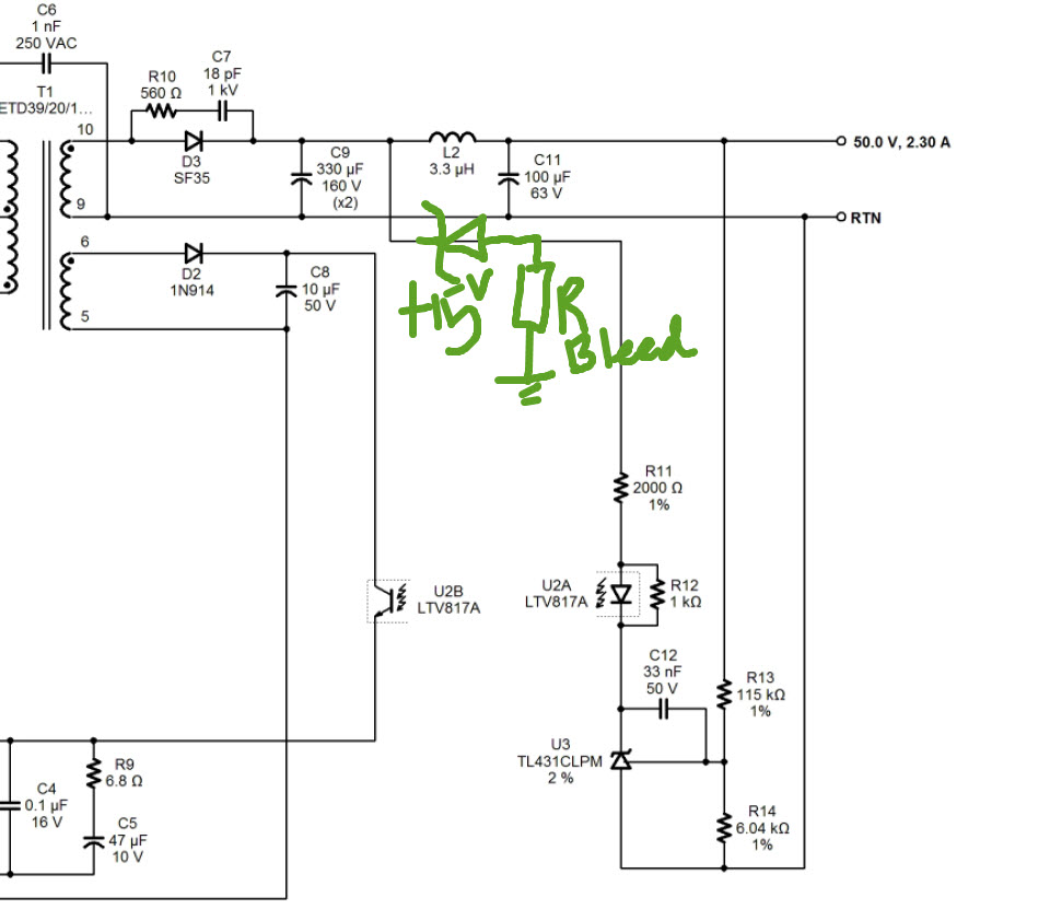 Output voltage too high for suggested opto and Voltage Reference