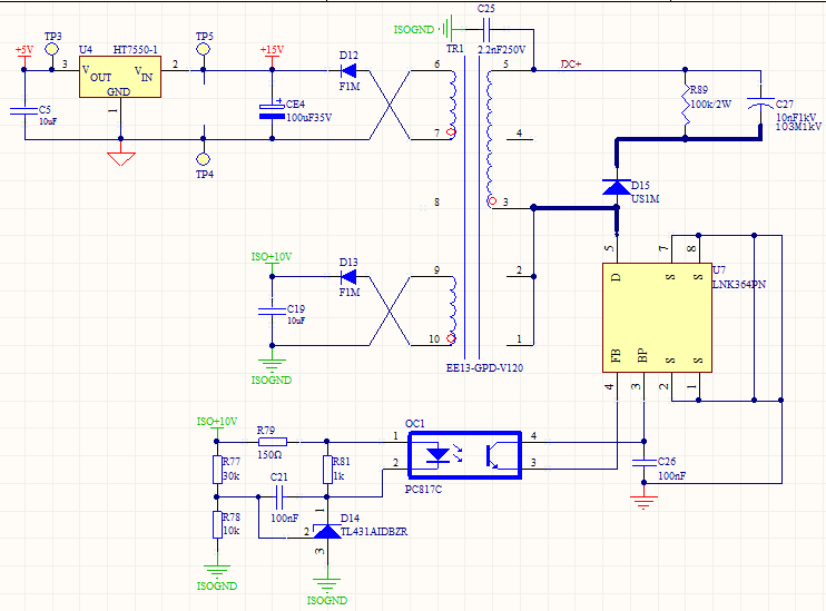 LNK364PN Power supply stop work | AC-DC Converters