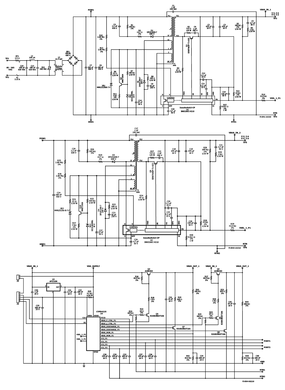 Design Examples Power Integrations Ac Dc Converters Circuit Diagram Variable Supply