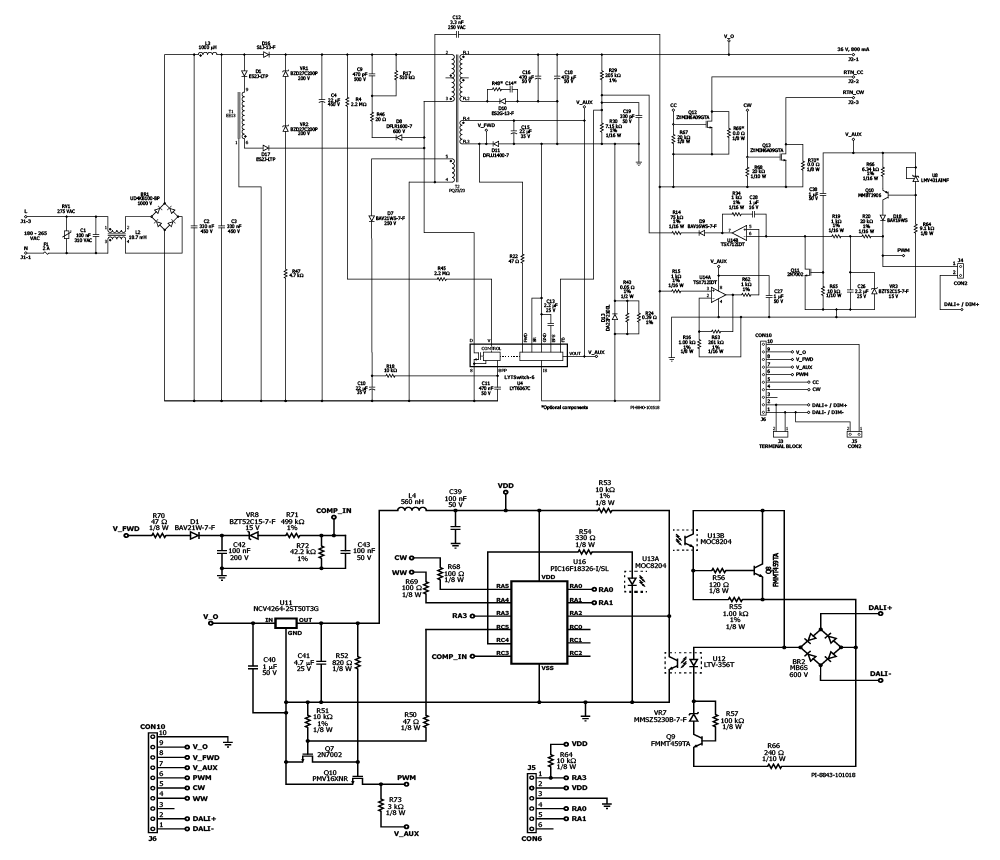 Led Design Examples Power Integrations Drivers Triac Dimmer Circuit Diagram On High Driver