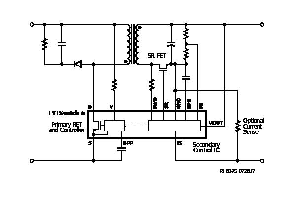 Типовая схема применения LYTSwitch-6